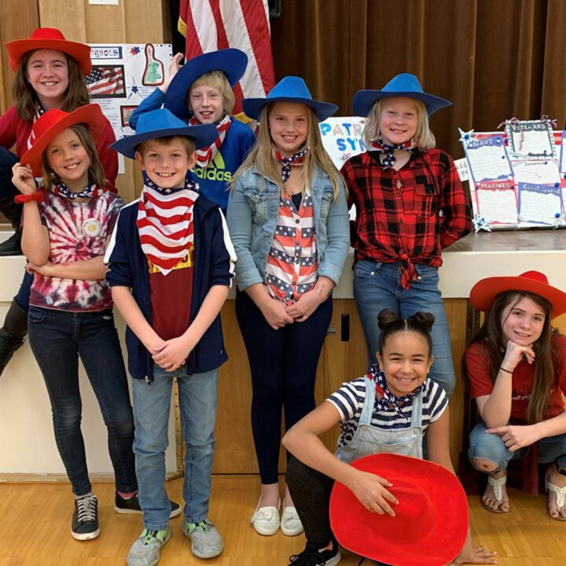 OC students in patriotic clothing
