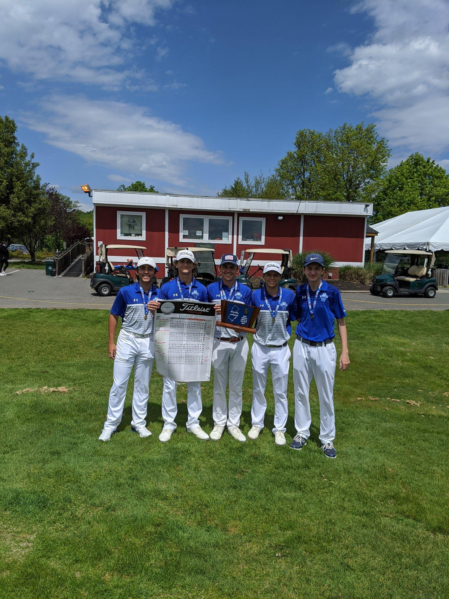 2021 North II Group IV Sectional Champions Trophy Colin Summers 72 (2nd Individual), Barnes Blake 76, Nicholas Conti 78, David Givand 81, and Thomas Smith 85.  Team score: 307. Congrats on the win and moving on to TOC!