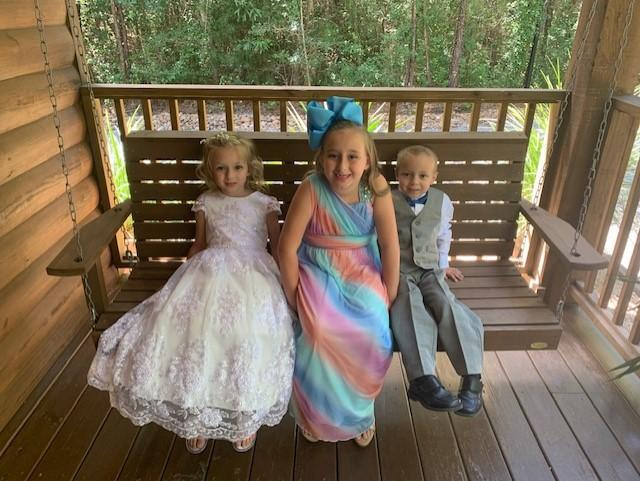 Addison (1st Grade), Abigail (4th Grade), Kolton (PreK)