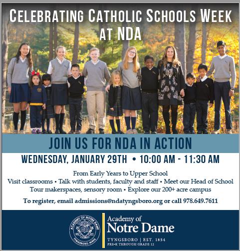 Catholic Schools Week ad