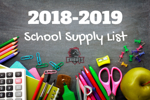 2018-2019 Jr.-Sr. High School Supply Lists Featured Photo