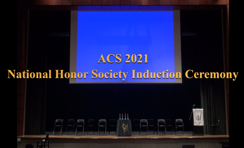 ACS National Honor Society Induction Ceremony 2021 Featured Photo
