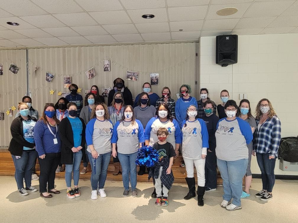 Dupont Staff dresses in blue to support Colon Cancer Awareness Month