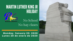 Martin Luther King Jr. Holiday - No School