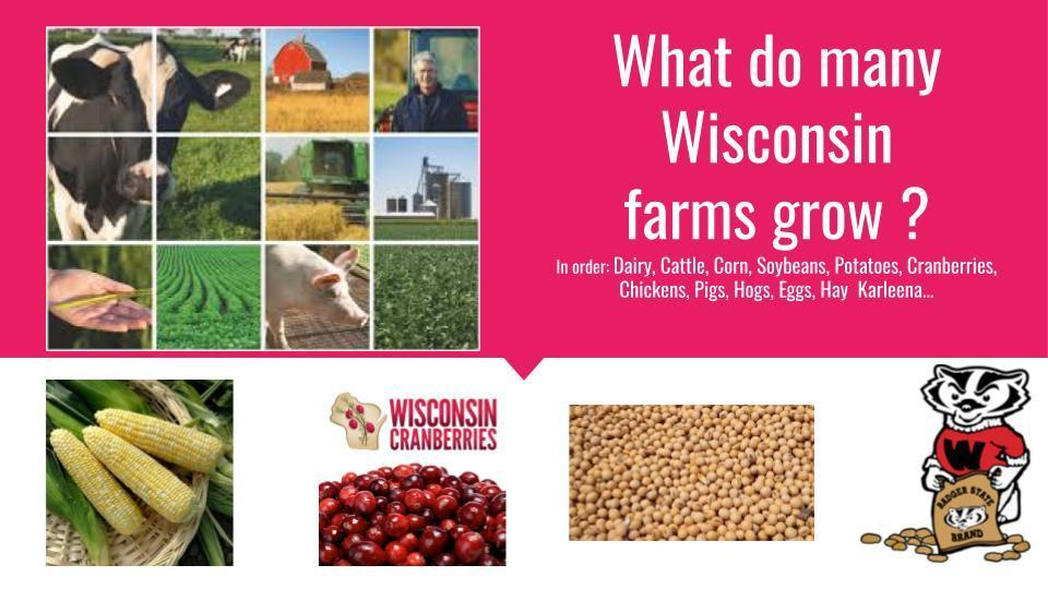 What are some things we raise in Wisconsin?