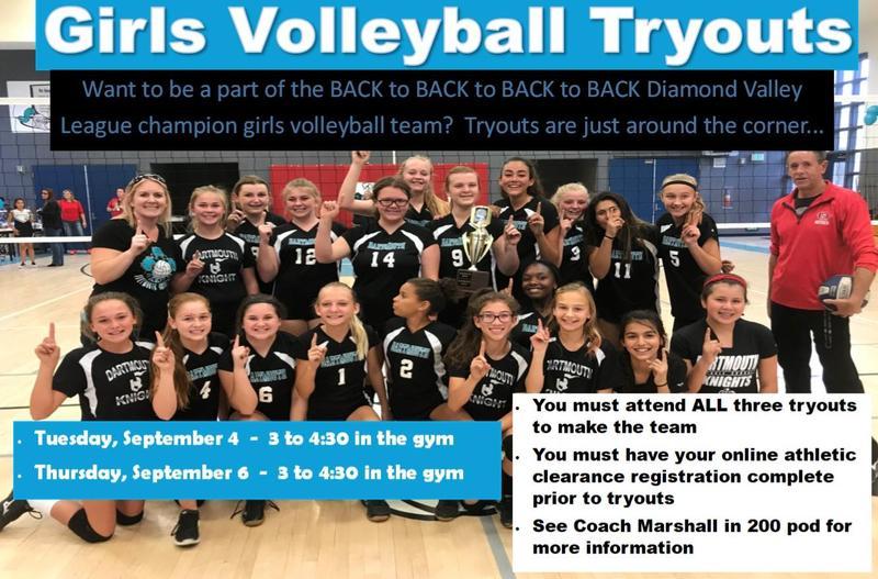 Dartmouth Girls Volleyball Information