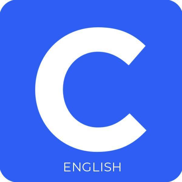 Clever logo, C inside a blue box