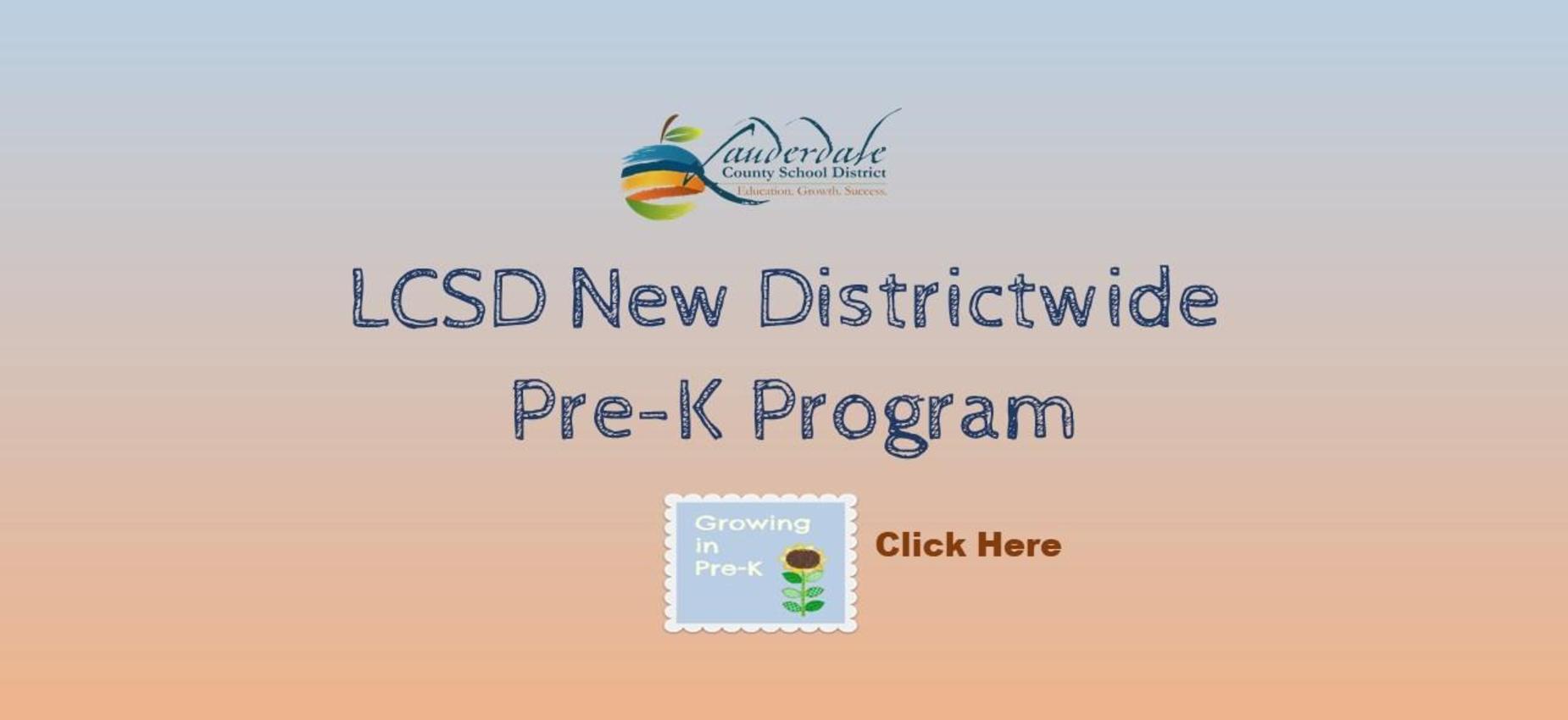 LCSD Pre-K Program Graphic
