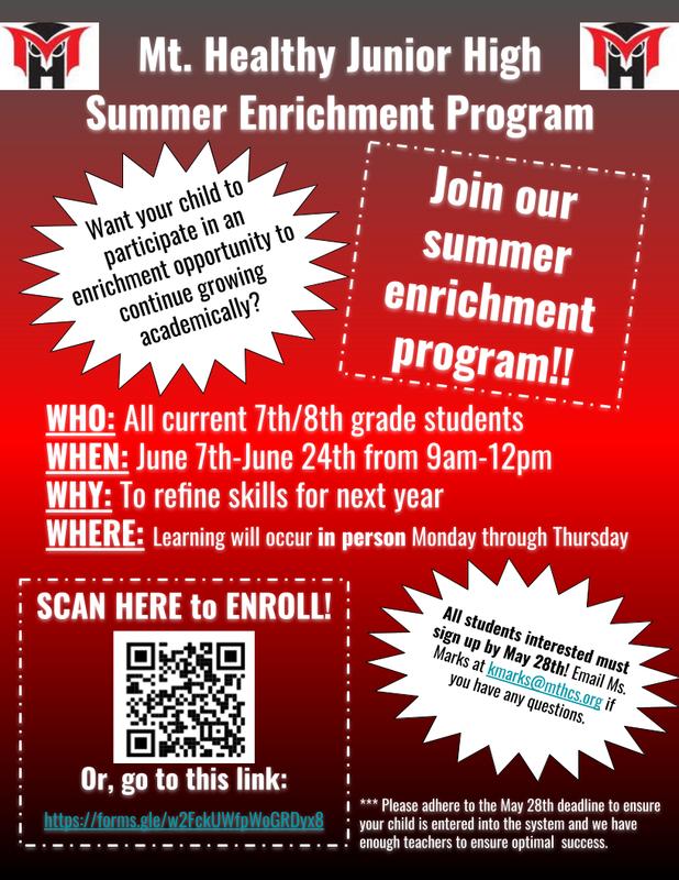 summer enrichment flyer