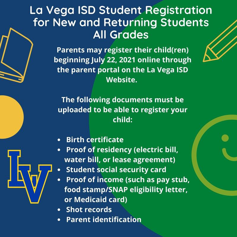 Student Registration Information for 2021-2022 Thumbnail Image