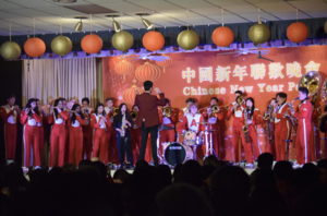 Arcadia High Band at Chinese Parents Booster Club New Year Celebration