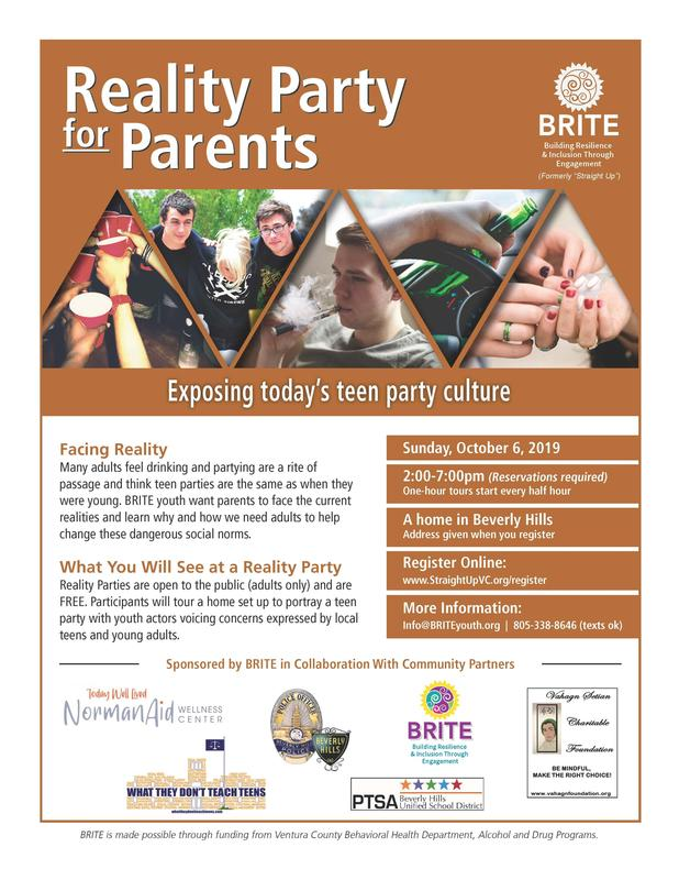 Reality Party for Parents Flyer
