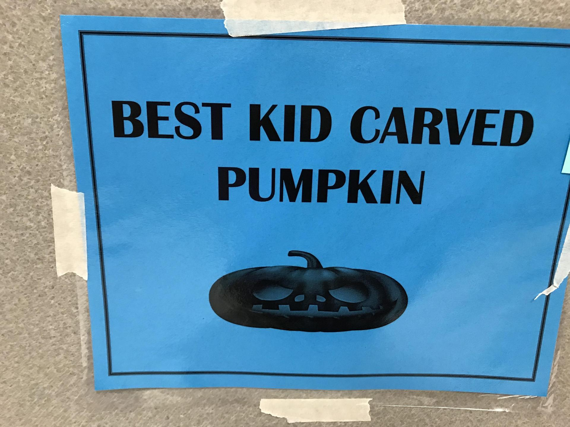 Best Kid Carved