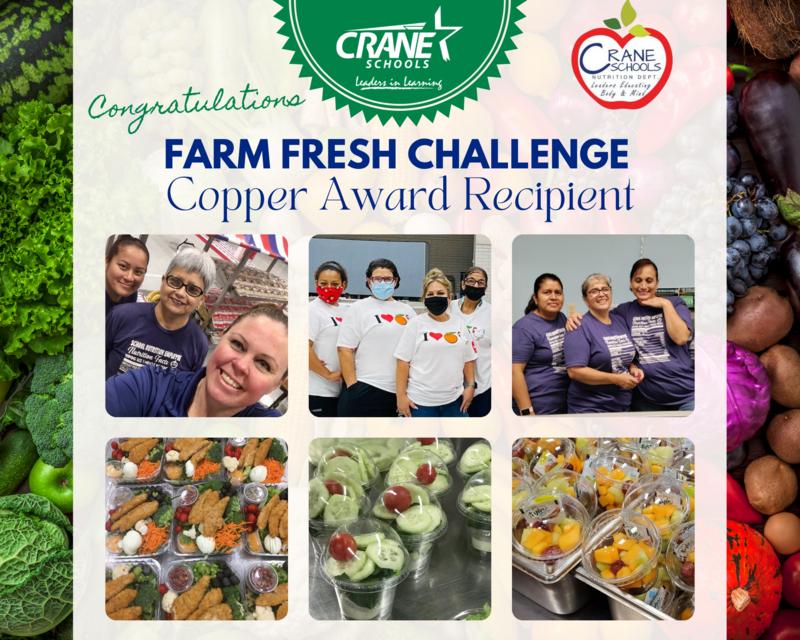 Crane District Awarded Farm Fresh Challenge Award Featured Photo