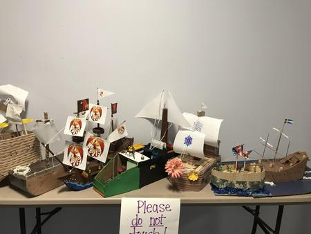 Student made Galleon ships