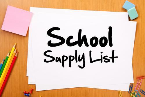 2020-2021 School Supplies List Thumbnail Image