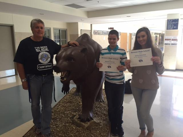 Freshmen: Mason Poyfair and Kayla Walpole were recognized by the BHS Faculty/Staff for BEAR Tenacity for the first six weeks. GRIT!!