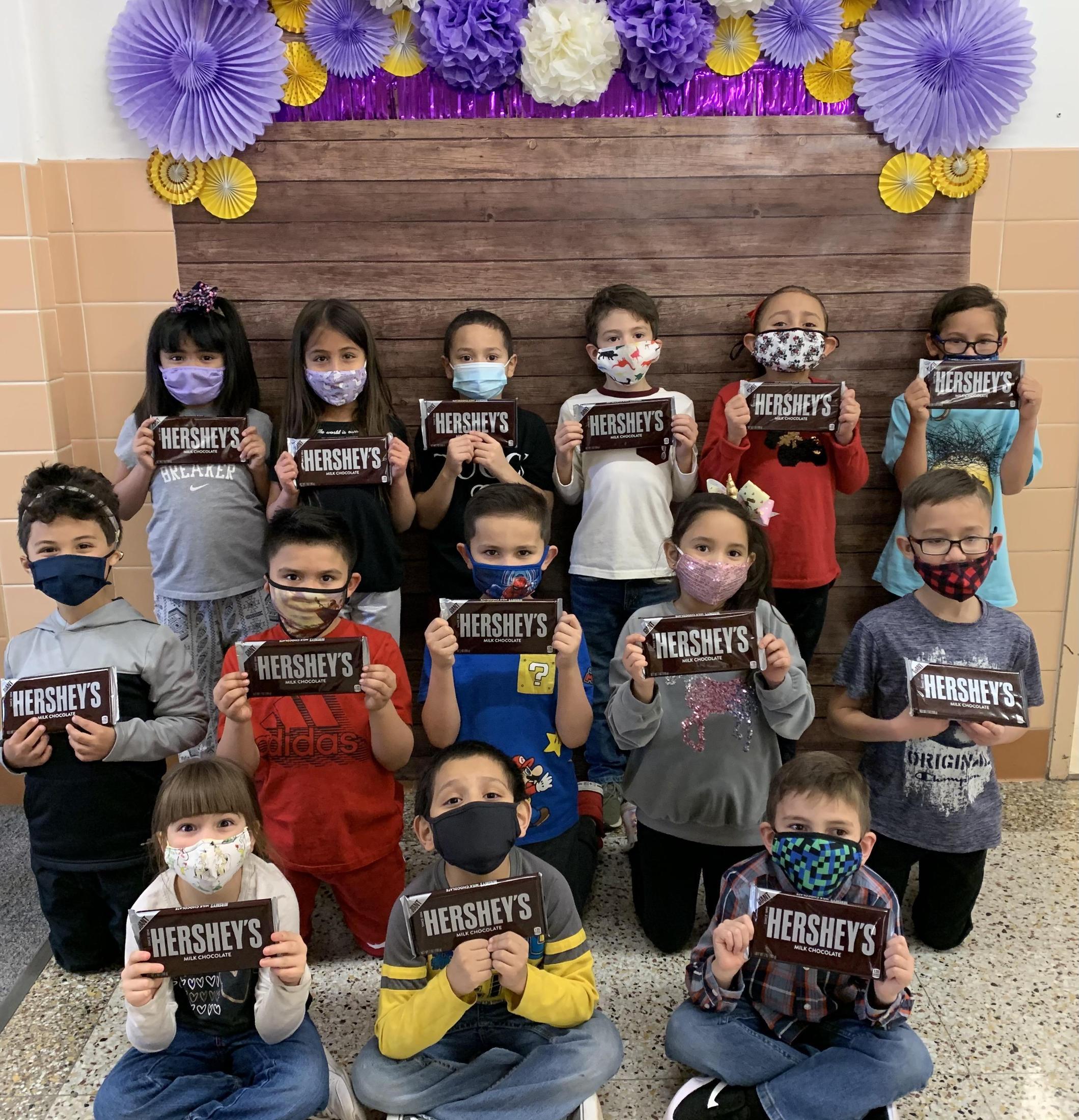 Chocolate Challenge 1st Grade Winners - Mrs. Johnston's Class