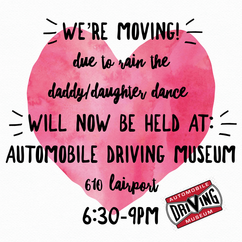 Daddy Daughter Dance has moved locations. Featured Photo