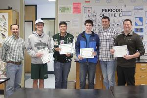 Teacher Dallas Tognotti and Aquaculture Students