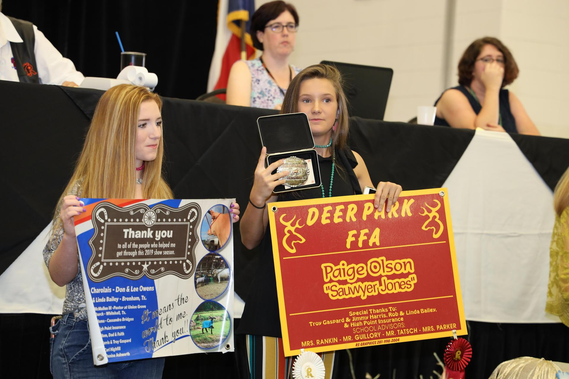 DPHS South Campus FFA students participate in the 2019 Pasadena Livestock Show and Rodeo Auction