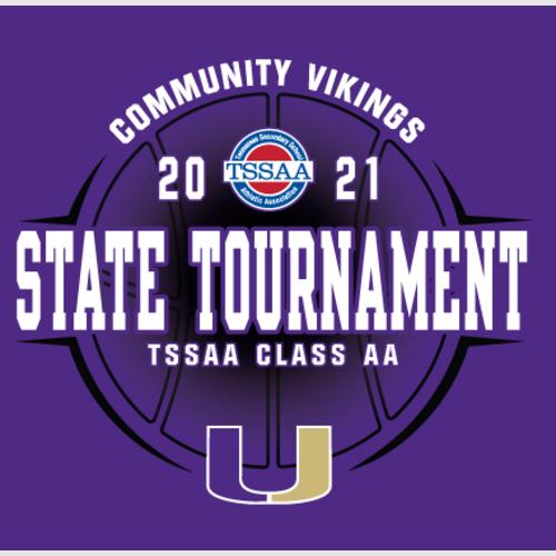 Vikings Basketball Elite 8 TSSAA State Tournament T-Shirt Order Featured Photo