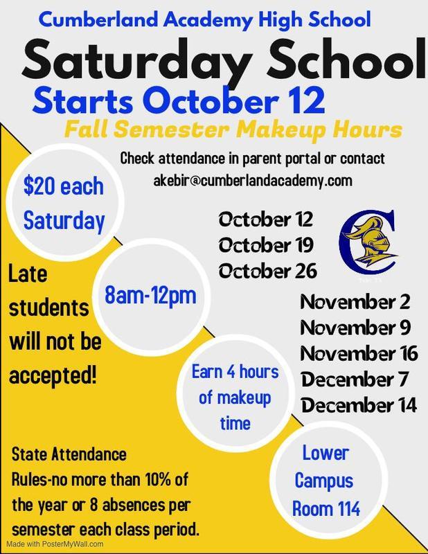 Saturday School Information Featured Photo