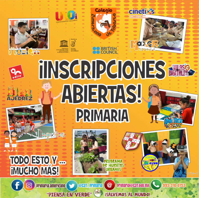 PRIMARIA: INSCRIPCIONES ABIERTAS Featured Photo