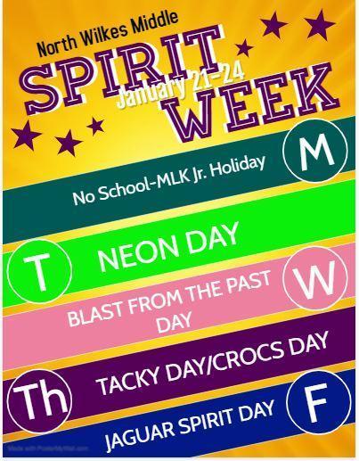 Spirit Week January 21-24 Thumbnail Image