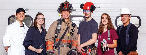 ccc students in career garb