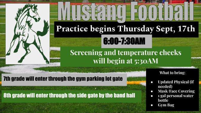 Mustang practice begins soon. Featured Photo
