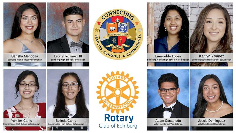 Edinburg Rotary Club honors the class of 2020 valedictorians and salutatorians from Edinburg CISD.