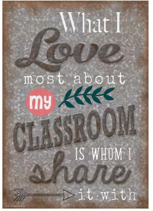 What I love most about my classroom is whom I share it with