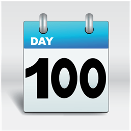 day 100 calendar