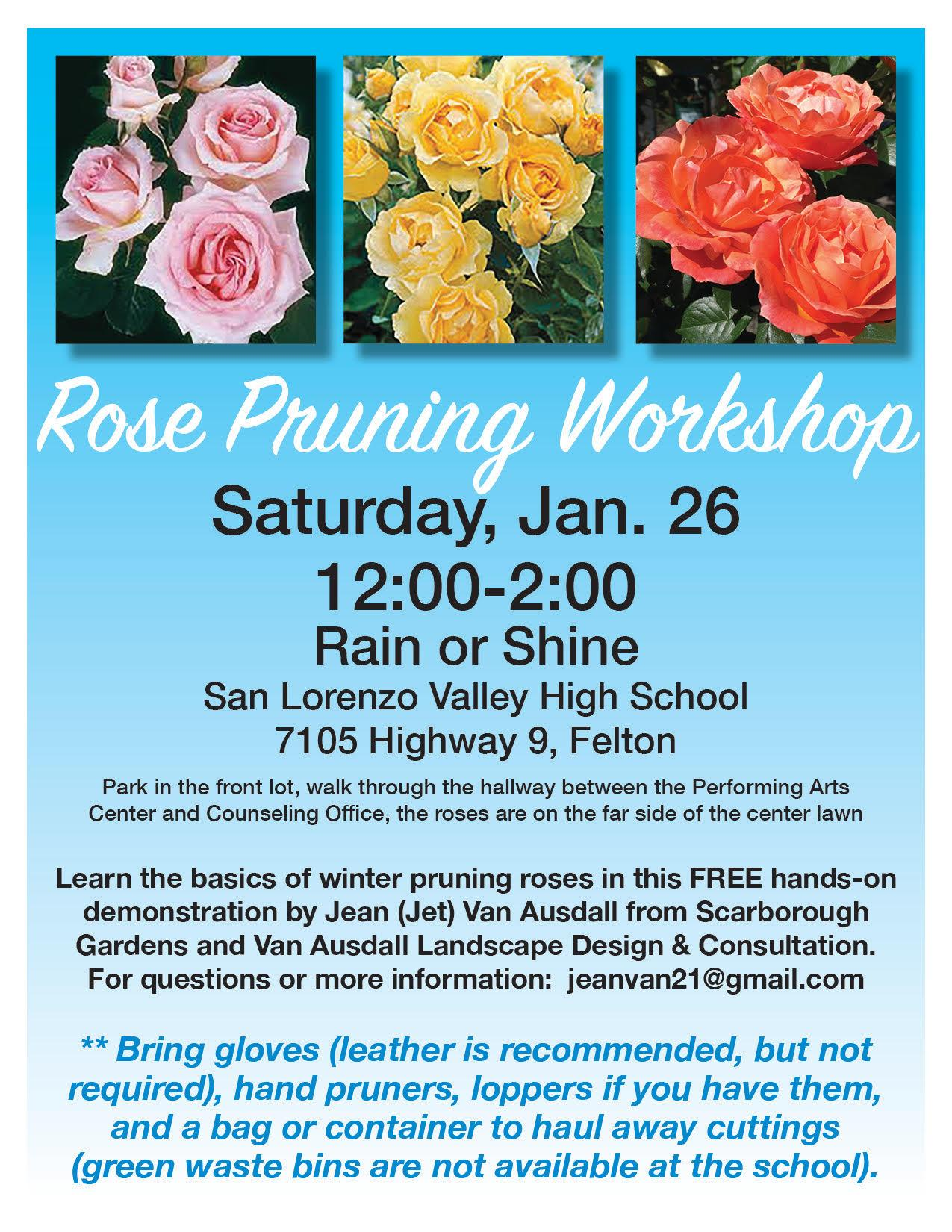 Rose Pruning Workshop at SLVHS 1-26