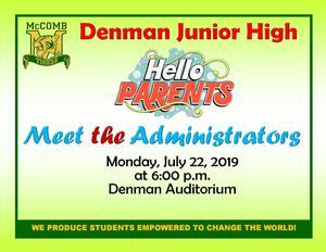 Denman Junior High Meet the Administration Flyer 2019.jpg