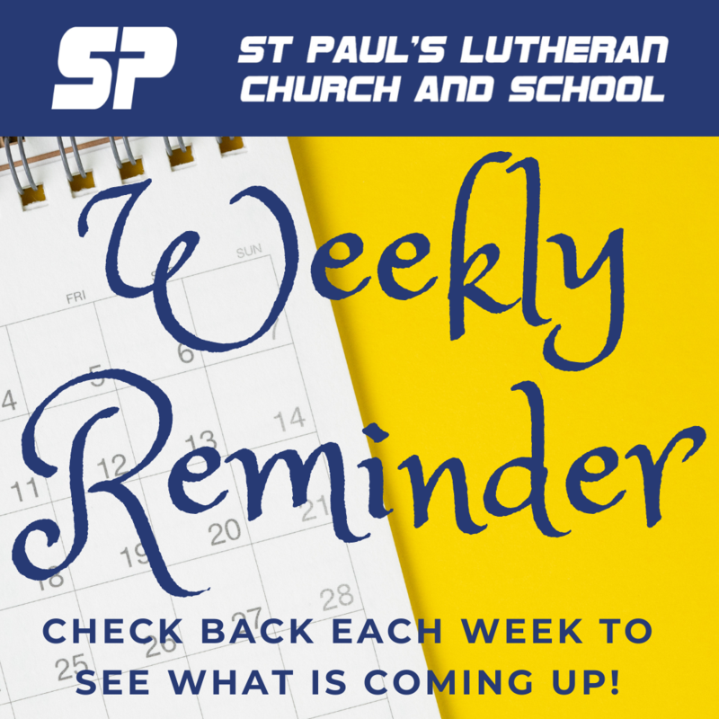 Click here for the Weekly Reminder! Featured Photo