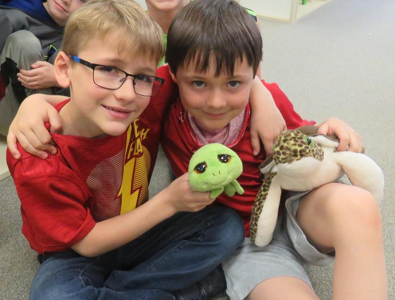 Lee Elementary second-graders enjoy learning more about sea turltes via Skype with the South Carolina Aquarium Sea Turtle Hospital.