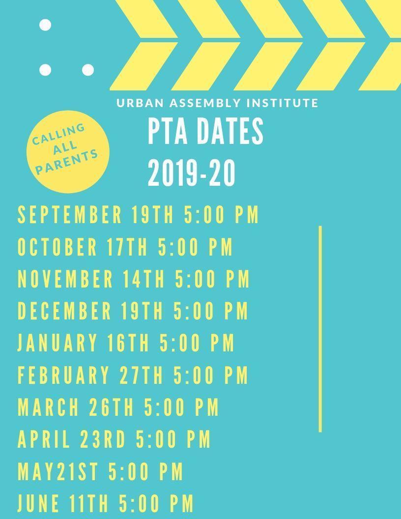 PTA Dates