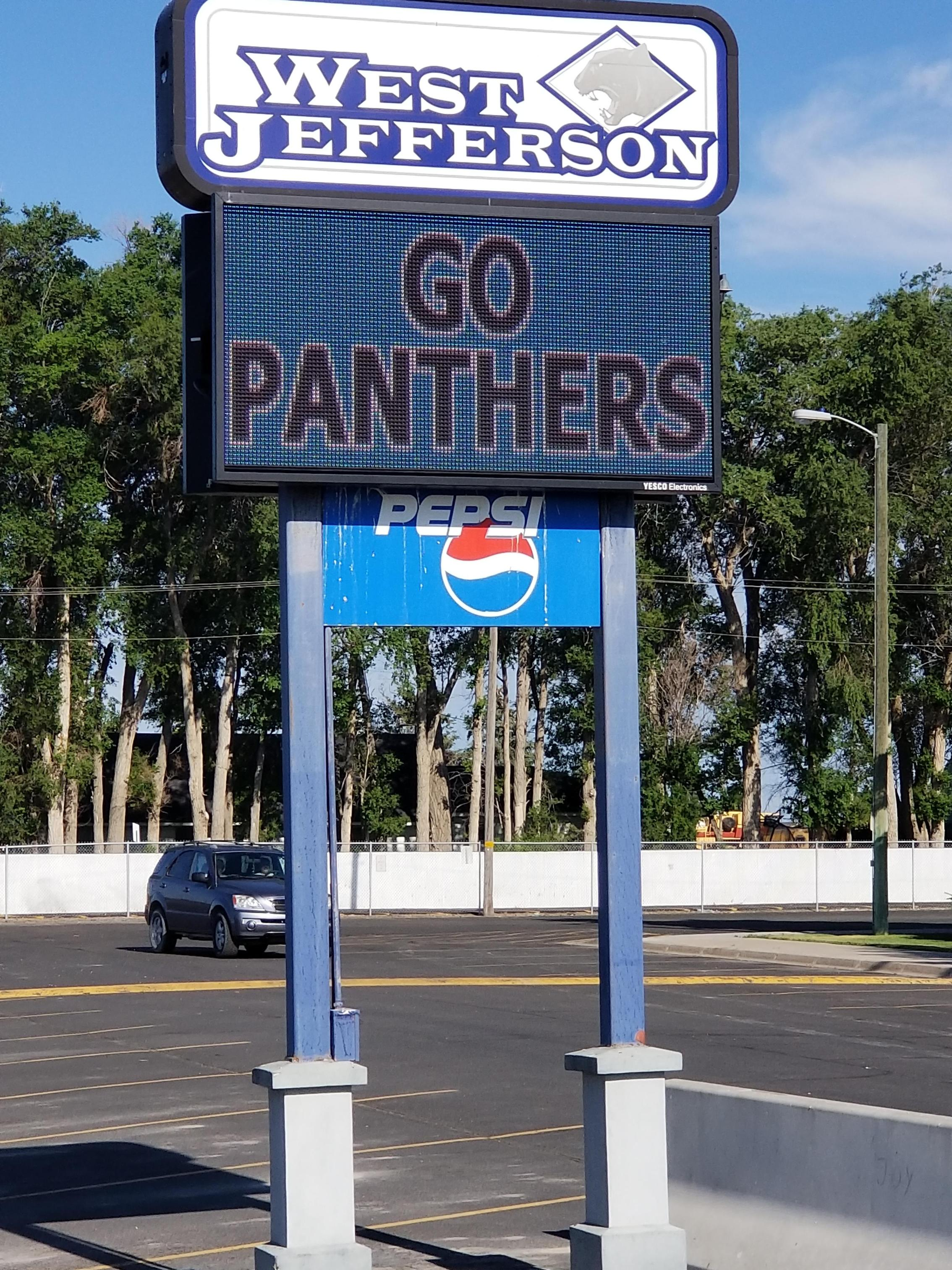Go Panthers Marquee Sign