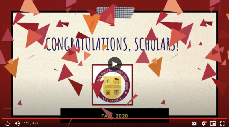 Fall 2020 Honor Roll Video Thumbnail Image