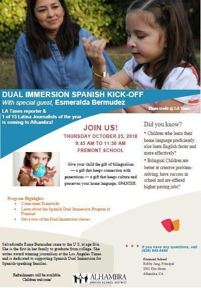 Dual Immersion Spanish Kick-Off with Special Guest, Esmeralda Bermudez Featured Photo