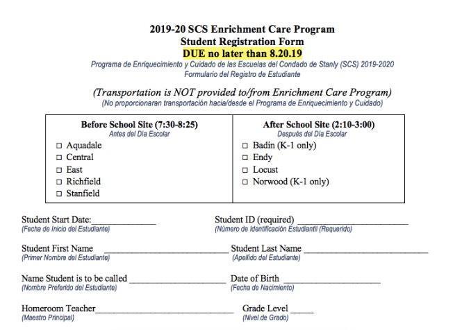 SCS Enrichment Care Program Featured Photo
