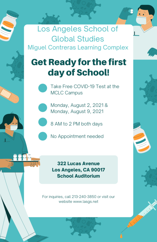 Free Covid Testing at Contreras for LAUSD Students Featured Photo