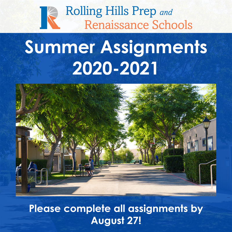 Summer Assignments Image