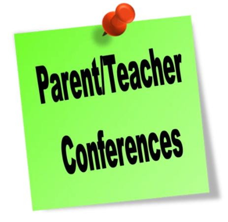 Parent/Teacher Conferences October 28th & 29th
