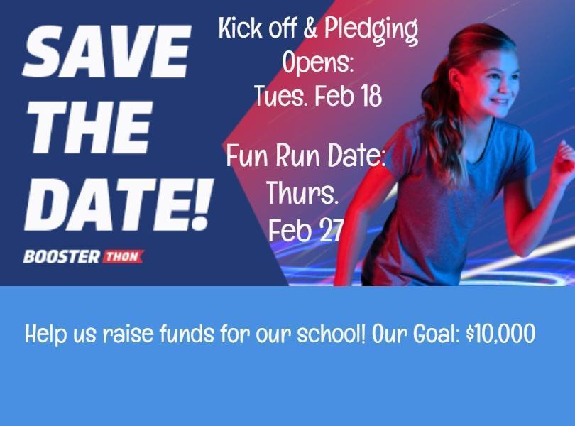 Image of Pledge date and fun run dates