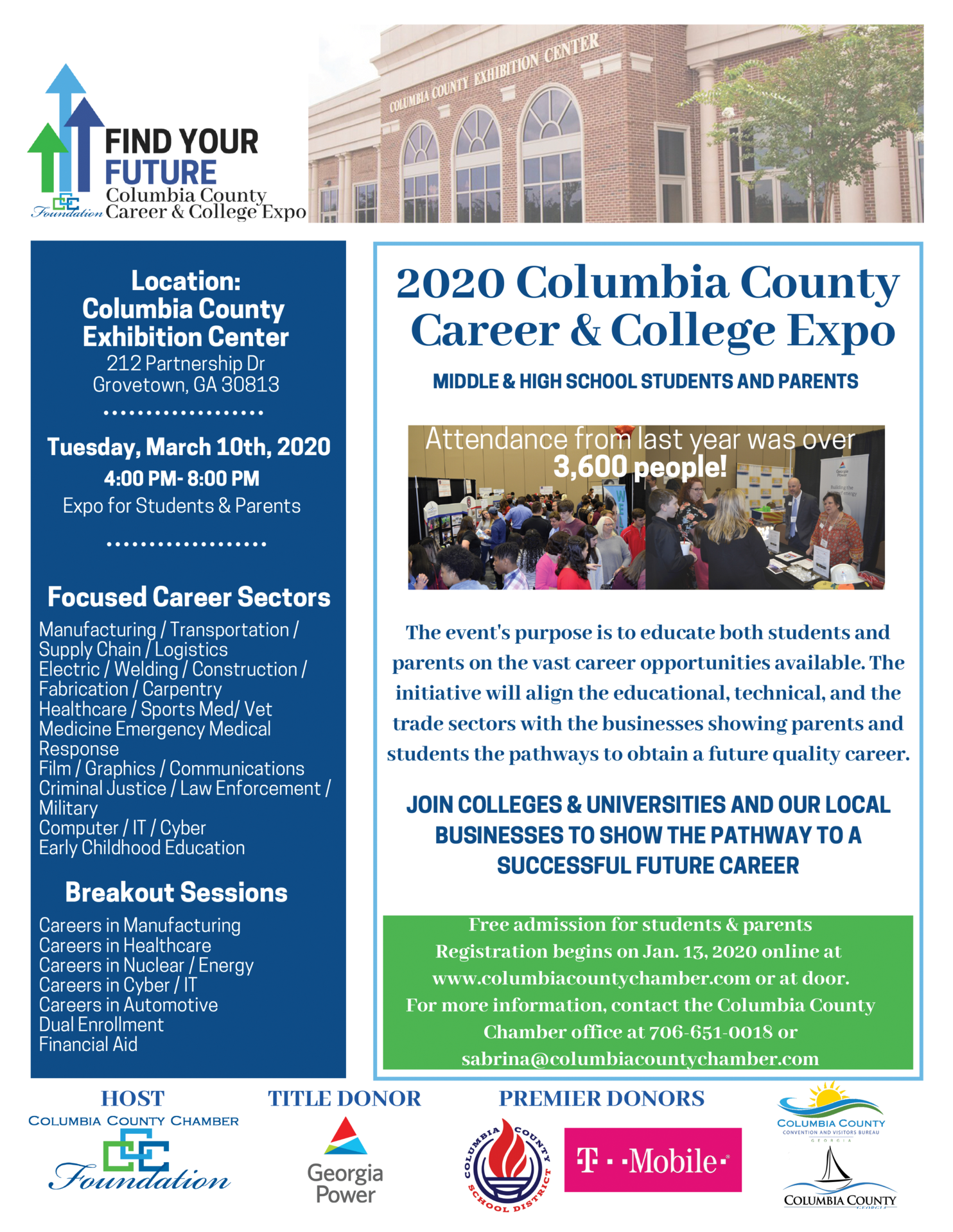 Find Your Future at the Columbia County Career and College Expo