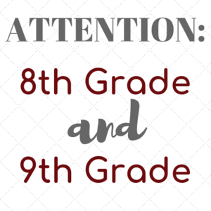 8th and 9th grade