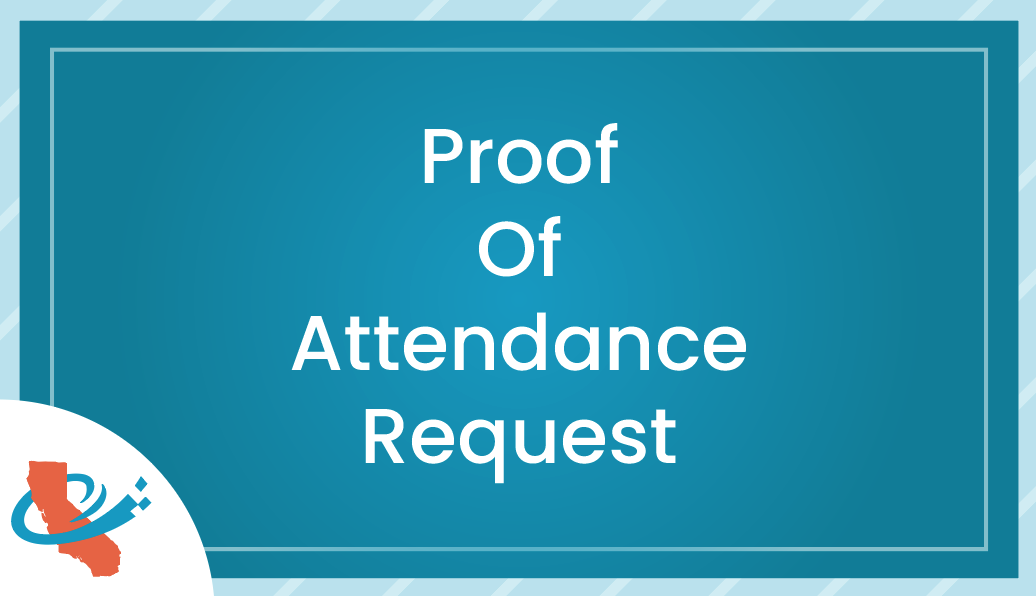 Proof Of Attendance Request